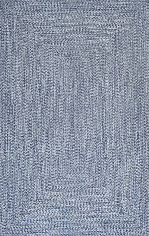 Nuloom Braided Lefebvre Light Blue Area Rug