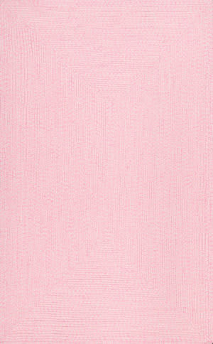 Famous Maker Braided Lefebvre Pink Area Rug