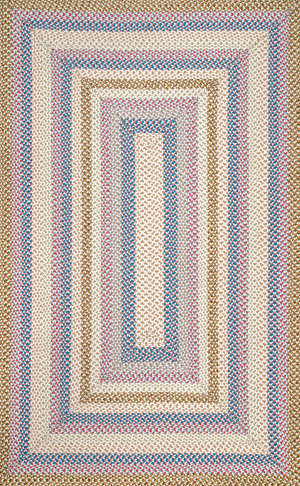 Famous Maker Braided Shay Blue Multi Area Rug