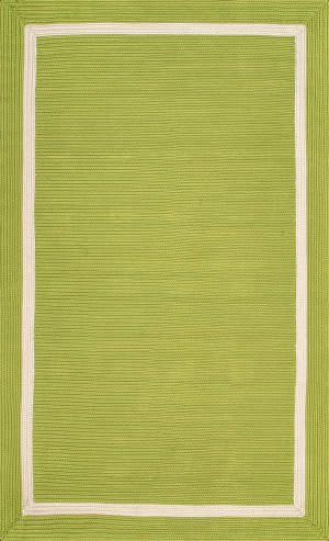 Famous Maker Braided Gwenyth Green Area Rug