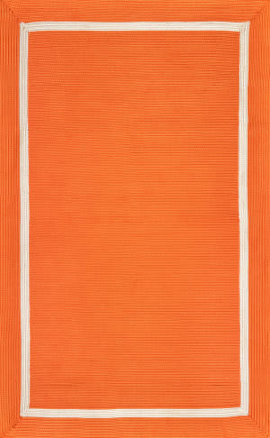 Famous Maker Braided Gwenyth Orange Area Rug