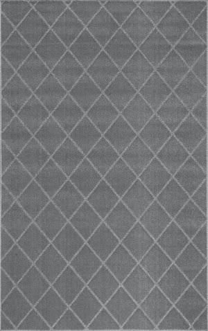 Nuloom Herma Diamond Trellis Charcoal Area Rug