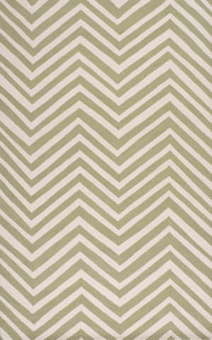 Nuloom Hand Hooked Chevron Green Area Rug