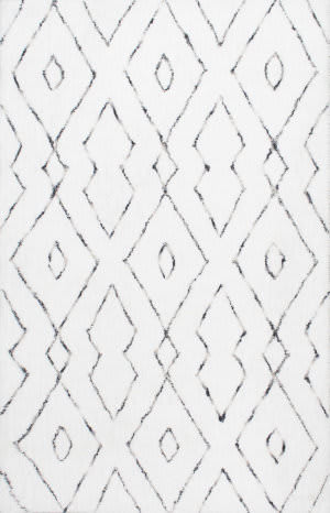 Nuloom Hand Tufted Beaulah Shaggy White Area Rug