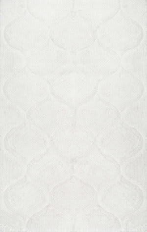 Nuloom Shaggy Elsie White Area Rug