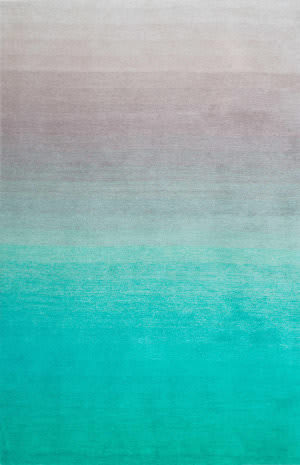 Nuloom Handmade Ombre Shag Turquoise Area Rug