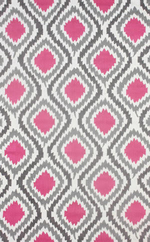 Nuloom Hand Hooked Matthieu Pink Area Rug