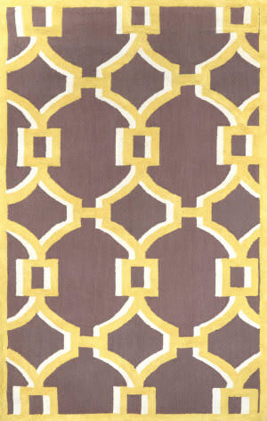 Nuloom Hand Hooked Geometric Rosa Gold Area Rug