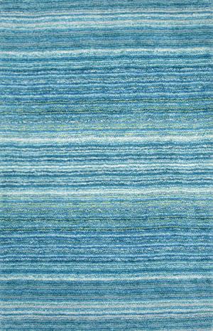 Nuloom Hand Tufted Classie Shag Sky Blue Area Rug