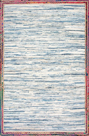 Famous Maker Handwoven Darline Light Blue Area Rug