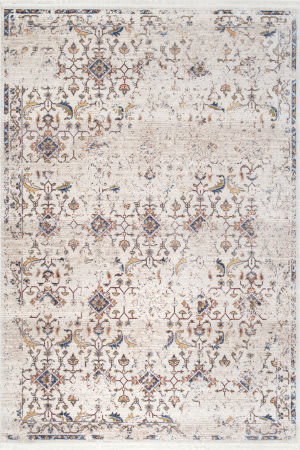 Nuloom Doloris Faded Fringe Ivory Area Rug