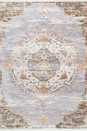 Famous Maker Shaunda Medallion Gray Area Rug