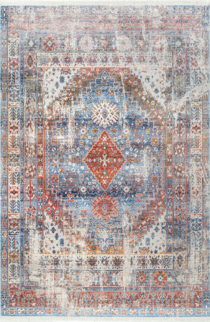 Famous Maker Farley Medallion Blue Area Rug