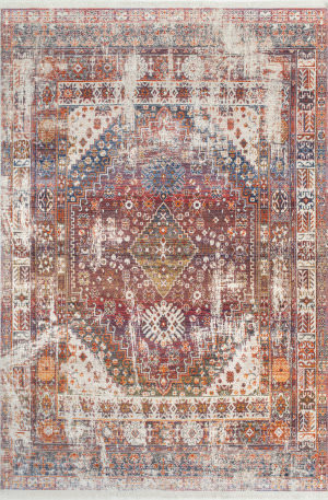 Famous Maker Farley Medallion Rust Area Rug
