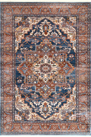 Famous Maker Vintage Jullian Rust Area Rug