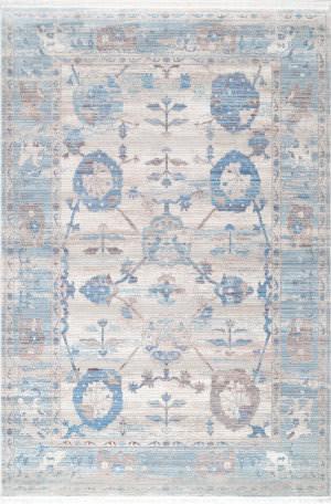 Nuloom Connie Vintage Floral Light Blue Area Rug