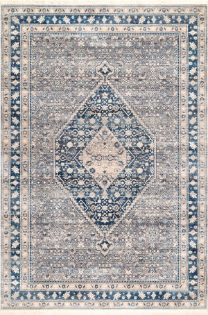 Nuloom Eleanor Vintage Medallion Blue Area Rug