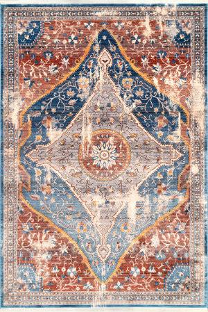 Nuloom Heidi Vintage Floral Blue Area Rug