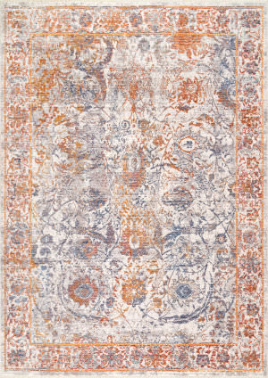 Famous Maker Vintage Sonia Orange Area Rug