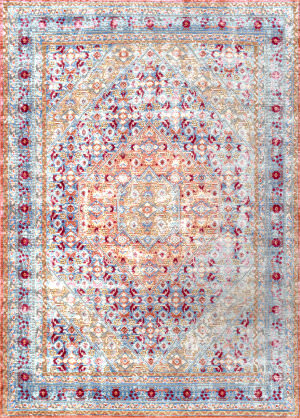 Nuloom Persian Floral Daria Light Blue Area Rug