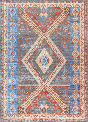 Nuloom Tribal Medallion Renda Grey Area Rug