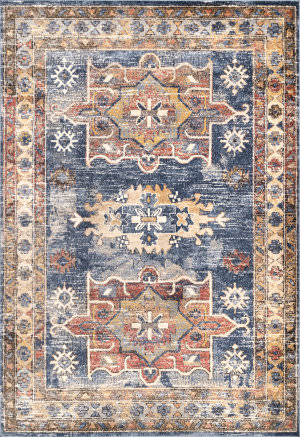 Famous Maker Transitional Stacy Blue Area Rug