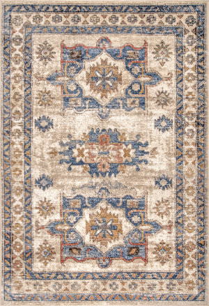 Famous Maker Transitional Stacy Beige Area Rug