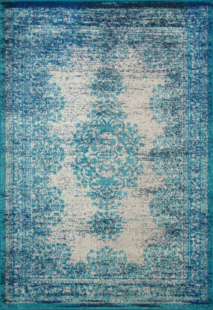 Nuloom Vintage Moriah Blue Area Rug
