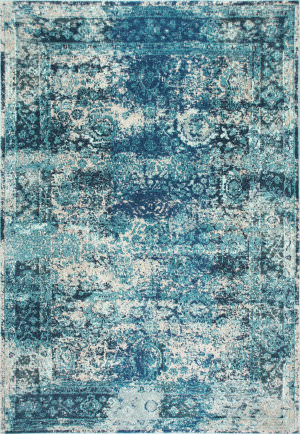 Nuloom Vintage Shuler Ocean Blue Area Rug