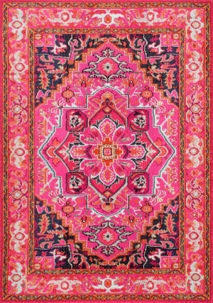 Nuloom Vintage Mackenzie Violet Pink Area Rug