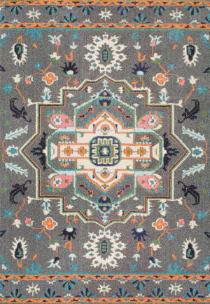 Nuloom Clorinda Tribal Medallion Grey Area Rug