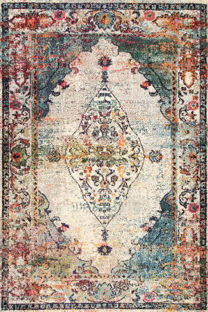 Famous Maker Vintage Veronica Blue Area Rug