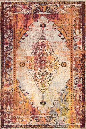 Famous Maker Vintage Veronica Red Area Rug