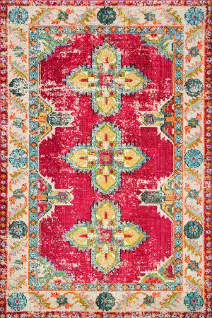 Famous Maker Vintage Karen Red Area Rug