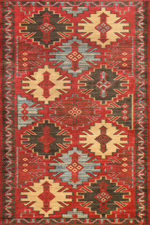 Famous Maker Trellis Tyra Red Area Rug
