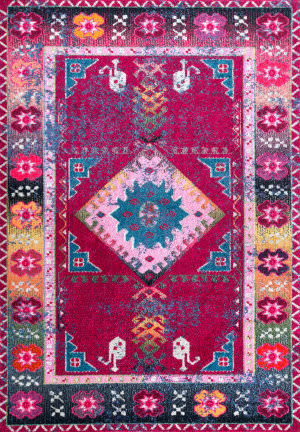 Famous Maker Bohemian Kelsey Purple Area Rug