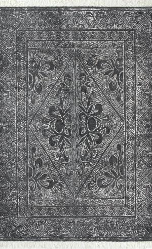 Nuloom Handmade Nidia Fleur-De-Lis Dark Grey Area Rug