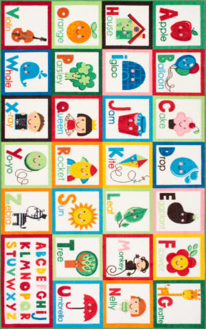 Nuloom Alphabet Block Multi Area Rug
