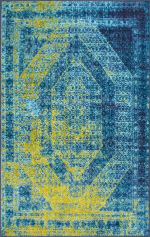 Nuloom Vintage Karon Blue Area Rug