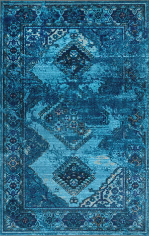 Nuloom Lavonna Distressed Tribal Blue Area Rug