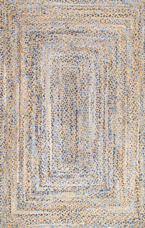 Nuloom Hand Braided Eliz Jute Blue Area Rug