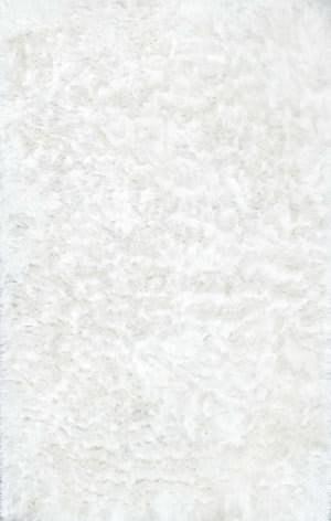 Nuloom Hand Woven Latonia Silken Shaggy White Area Rug