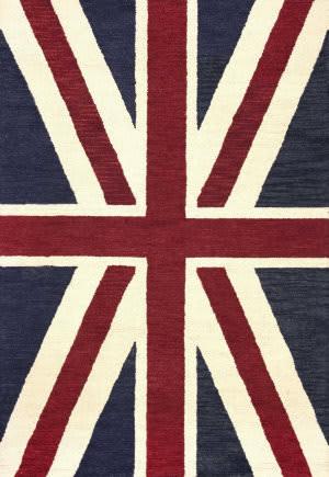 Nuloom Hand Tufted Union Jack Denim Area Rug