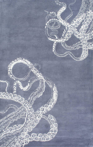 Nuloom Hand Tufted Octopus Tail Midnight Area Rug