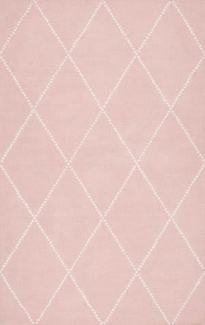 Famous Maker Hand Tufted Elvia Baby Pink Area Rug