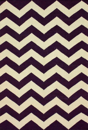 Nuloom Flatweave Spencer Purple Area Rug