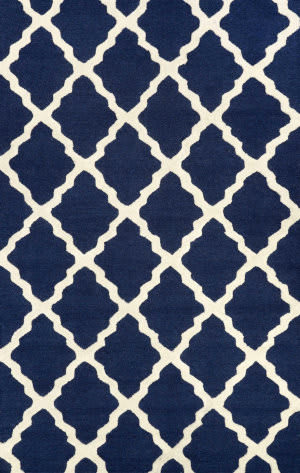 Nuloom Hand Hooked Marrakech Trellis Navy Blue Area Rug