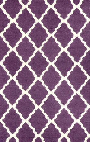 Nuloom Hand Hooked Marrakech Trellis Purple Area Rug