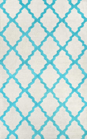 Nuloom Hand Hooked Marrakech Trellis Turquoise Area Rug