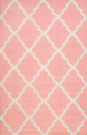 Nuloom Hand Hooked Marrakech Trellis Baby Pink Area Rug